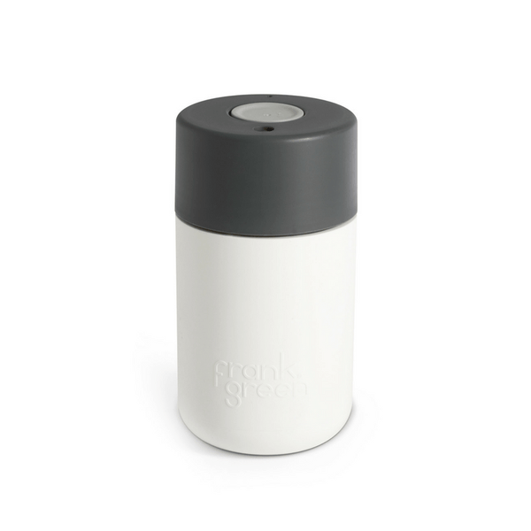 Frank Green | Frank Green Smart Cup 12oz White/Titanium/Cool Grey | Shut the Front Door