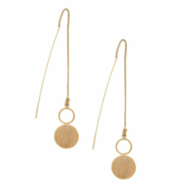 Tiger Tree | Earrings Gold Circle and Thread | Shut the Front Door