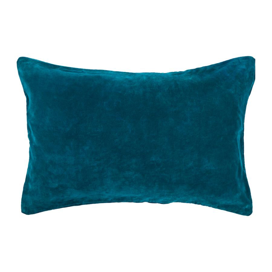 SAGE & CLARE | Bedari Velvet Pillowcase - Peacock | Shut the Front Door