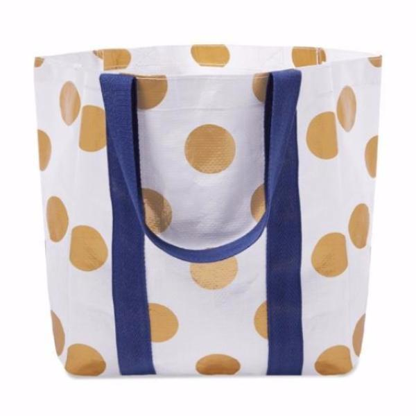 Project Ten | The Shopper Tote Bag GOLD DOT | Shut the Front Door