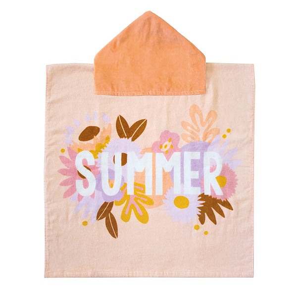 Kid's Beach Poncho & Bucket - Summer