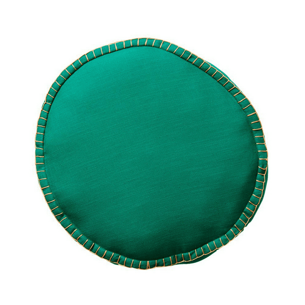 SAGE & CLARE | Rylie Round Cushion EMERALD | Shut the Front Door