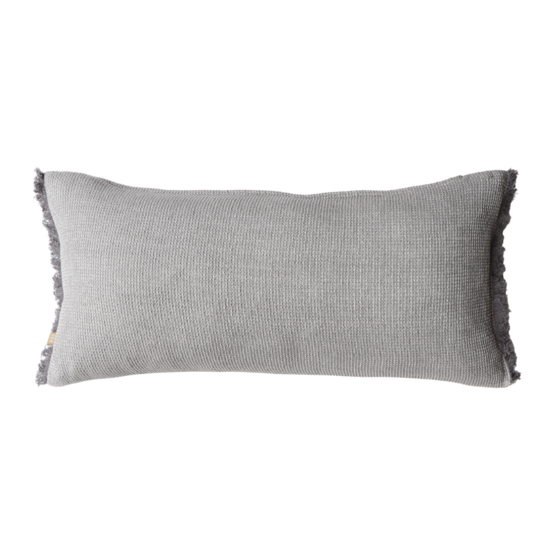 Raine & Humble | Chambray Waffle Cushion 30x60cm Charcoal | Shut the Front Door