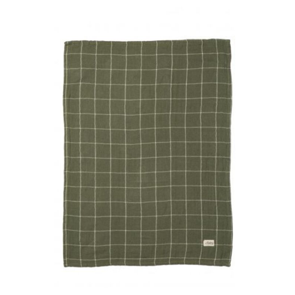 Academy Home | Hardy Gingham Tea Towel - Green | Shut the Front Door