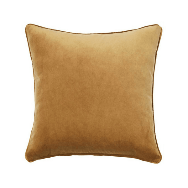 Weave | Zoe Velvet Cushion BRASS | Shut the Front Door