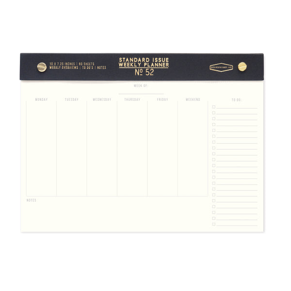 Designworks | Standard Issue No.52 Black Planner | Shut the Front Door