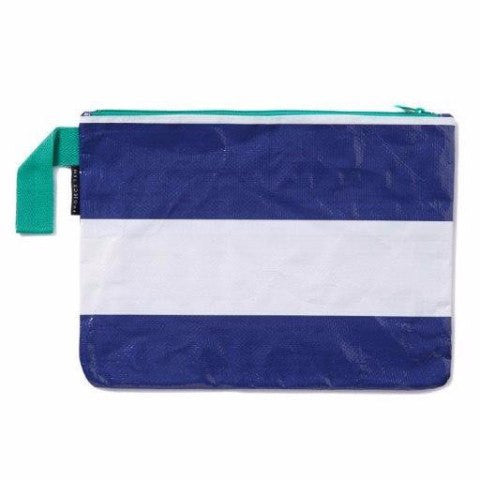 Project Ten | Zip Pouch - Navy Stripe | Shut the Front Door
