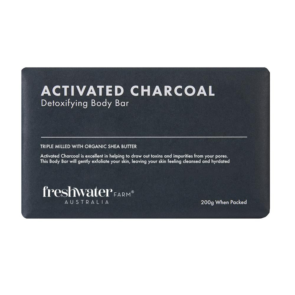 Freshwater Farm | Activated Charcoal Body Bar | Shut the Front Door