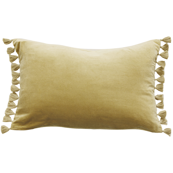 Este Velvet Cushion - Butter Yellow