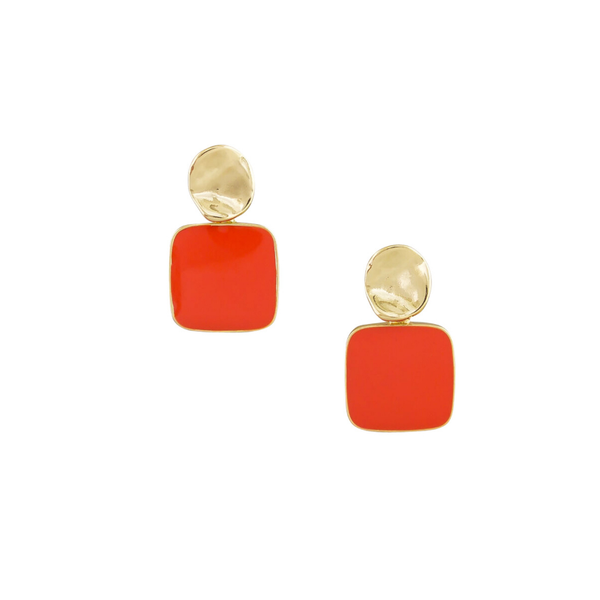 Tiger Tree | Retro Drop Earrings - Rouge | Shut the Front Door