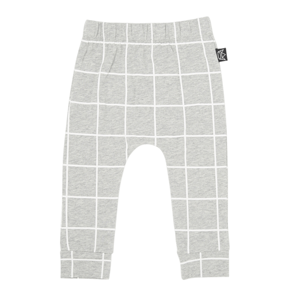 Kipp Kids | Pants Grey/White Check | Shut the Front Door