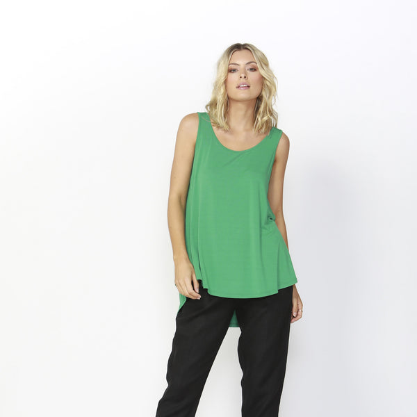 Betty Basics | Boston Tank Top Emerald | Shut the Front Door