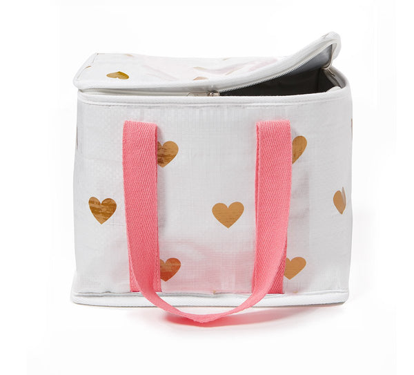 Project Ten | Mini Insulated Tote Bag - Hearts | Shut the Front Door