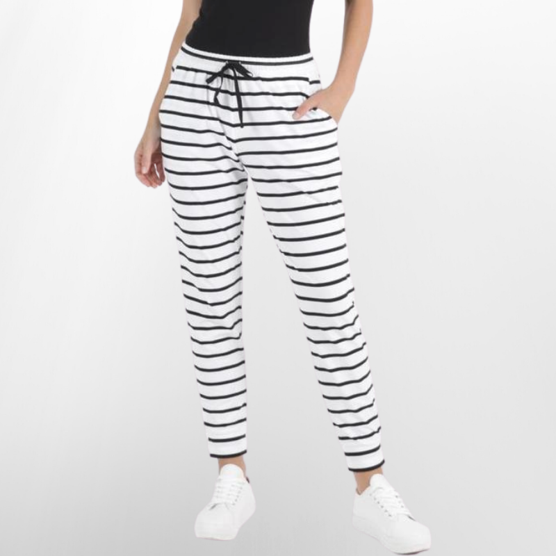 Betty Basics | Heidi Pant - Black & White Stripe | Shut the Front Door