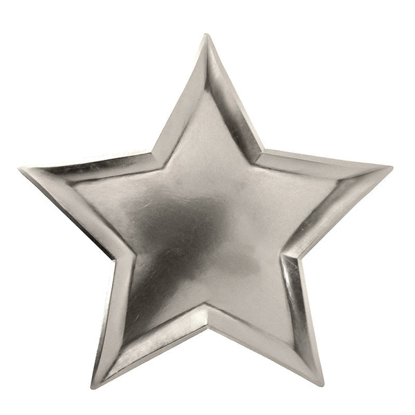 Meri Meri | Star Party Plate Silver | Shut the Front Door