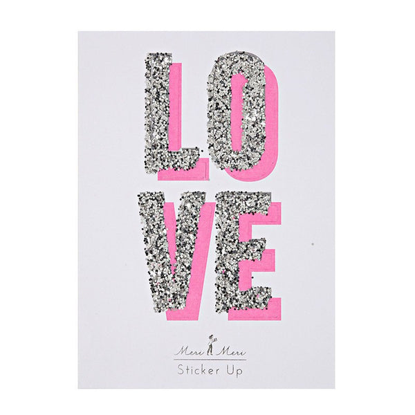 Meri Meri | Glitter LOVE Sticker | Shut the Front Door