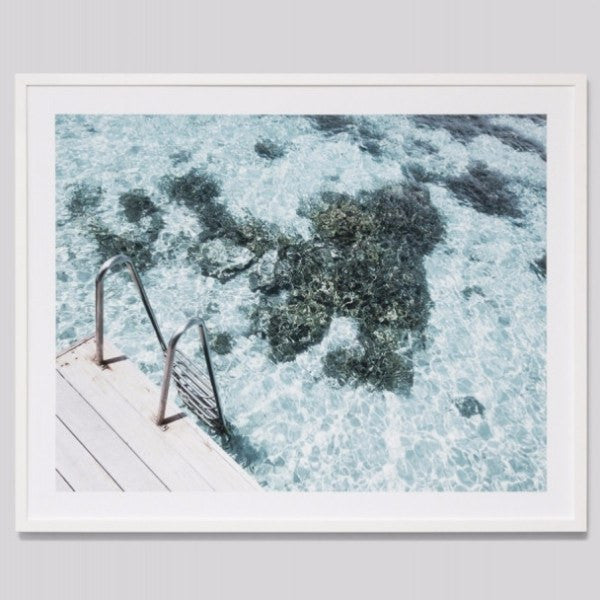 Middle of Nowhere | Framed Print Ocean Ladder | Shut the Front Door