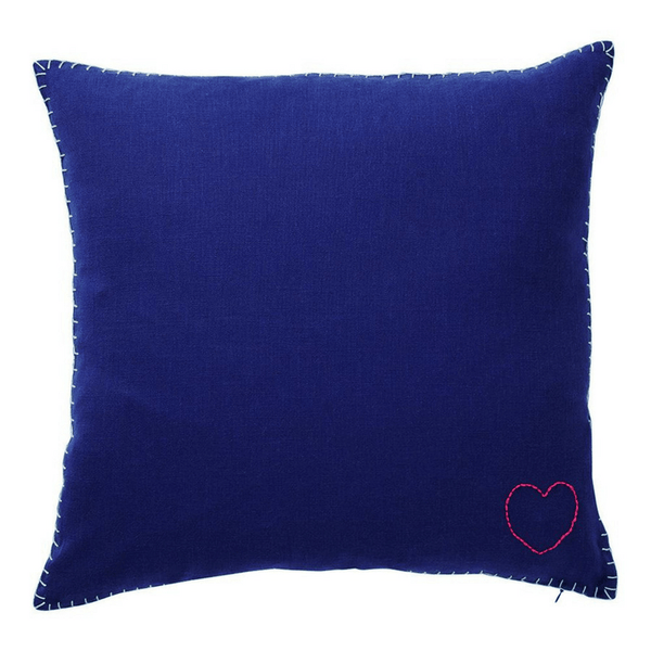 SAGE & CLARE | Nola Embroidery Heart Cushion | Shut the Front Door