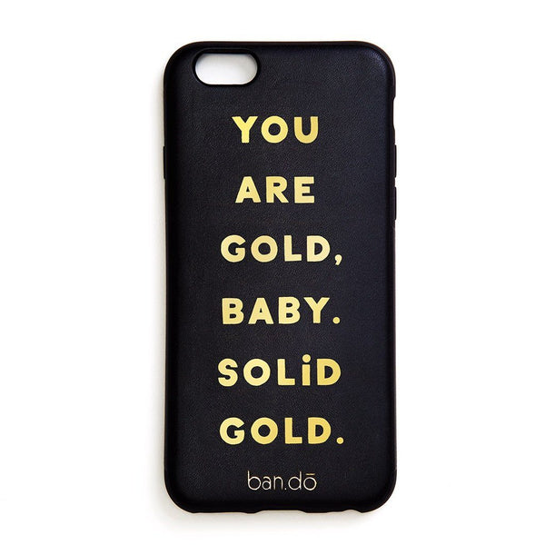ban.do | iPhone 7 Case Leatherette You Are Gold *PREORDER* | Shut the Front Door