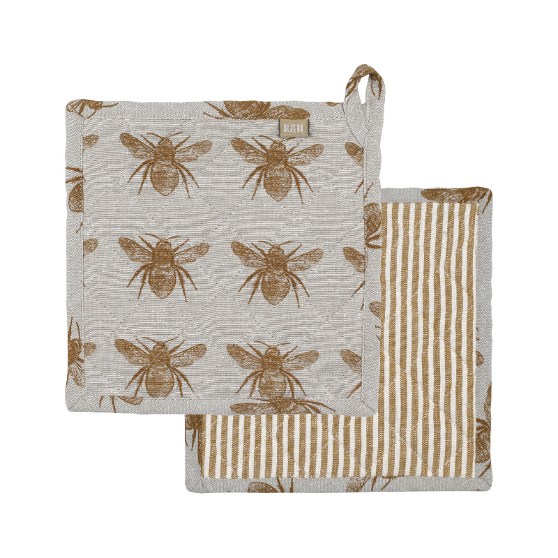 Raine & Humble | Honey Bee Trivet - Mustard | Shut the Front Door