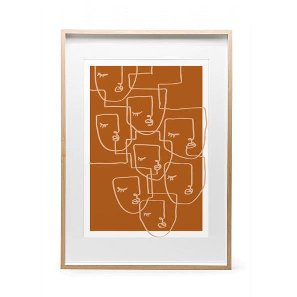 MAIKO NAGAO | Calm Print A4 - Mustard * Excludes Frame | Shut the Front Door