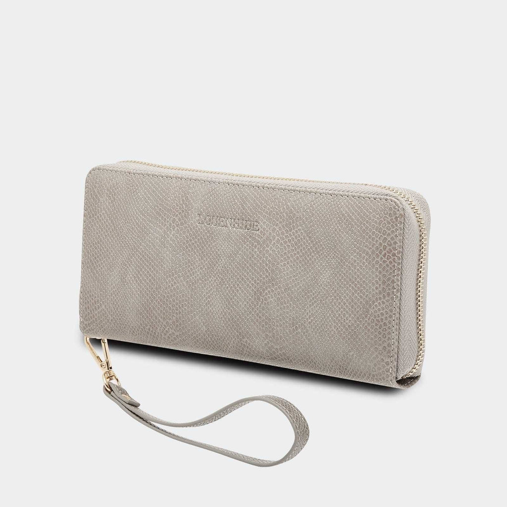 Louenhide | Jessica Wallet - Snake Grey | Shut the Front Door