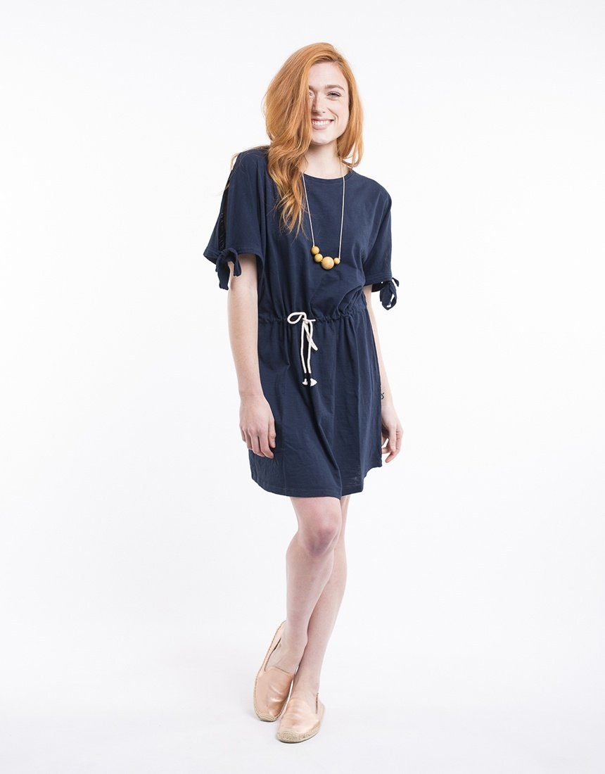 Foxwood | Thatcher Tee Dress Navy | Shut the Front Door