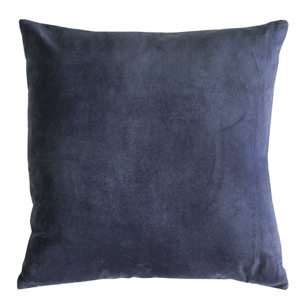 Kerridge Linen | Cushion Velvet & Linen Square - NAVY | Shut the Front Door