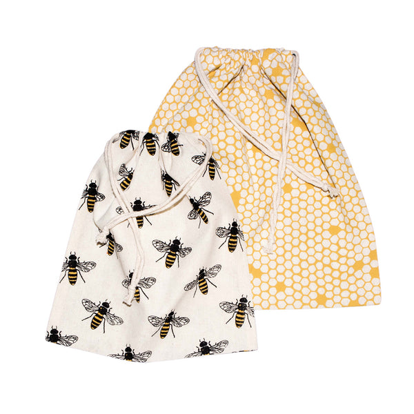 Save Planet A | Cotton Produce Bags - Bees - Pack of 4 | Shut the Front Door