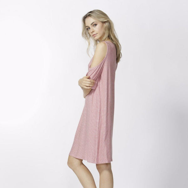 Betty Basics | Havana Dress Rose/White Stripe | Shut the Front Door