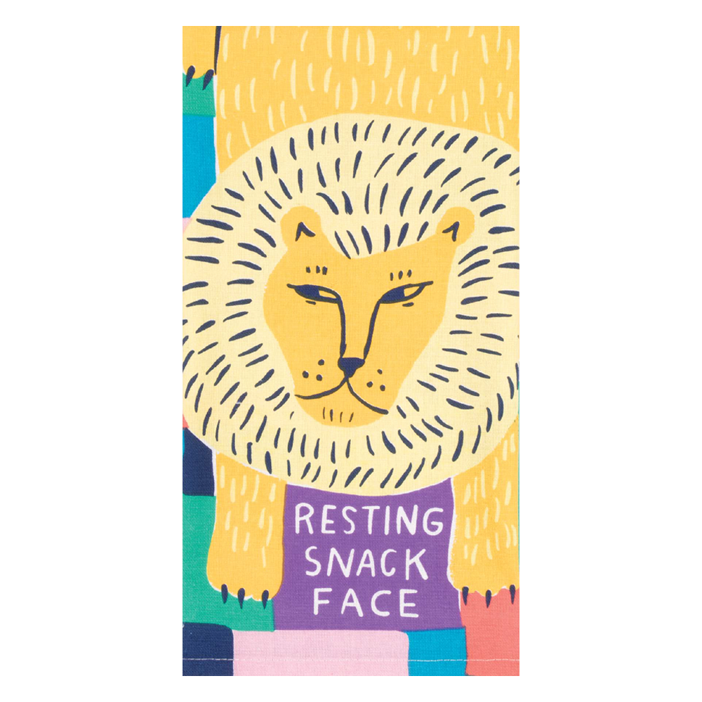 Blue Q | Tea Towel - Resting Snack Face | Shut the Front Door