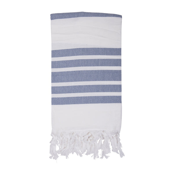 Shut the Front Door | Mare Turkish Towel - Navy | Shut the Front Door