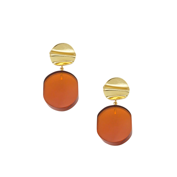 Tiger Tree | Chloe Resin Earrings - Orange | Shut the Front Door