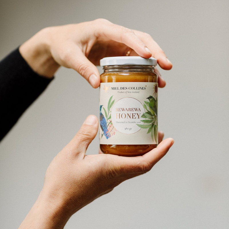 Miel des Collines | Rewarewa Honey 380g Jar | Shut the Front Door