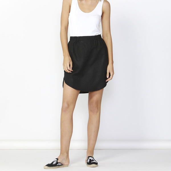 Betty Basics | Duke Linen Skirt Black | Shut the Front Door