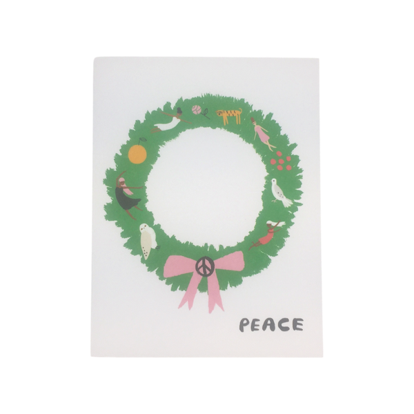 Designworks | Christmas Card - Peace Wreath | Shut the Front Door