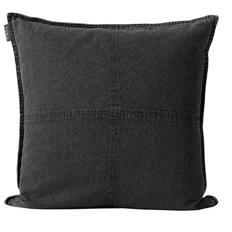 Aura | Cushion Vintage Denim GREY | Shut the Front Door