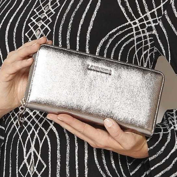 Louenhide | Isla Foil Wallet - Platinum | Shut the Front Door