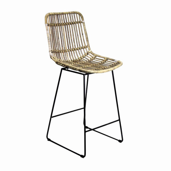 General Eclectic | Morrison Rattan Bar Stool | Shut the Front Door