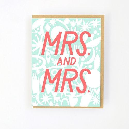 Hello Lucky | Wedding - Card Mrs & Mrs | Shut the Front Door