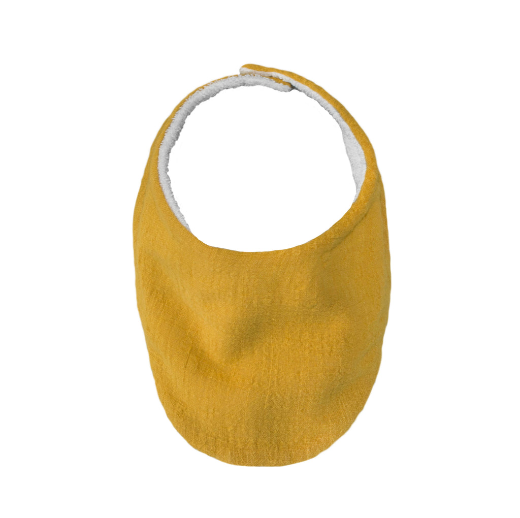 Lily and George | Mustard Muslin Bib | Shut the Front Door