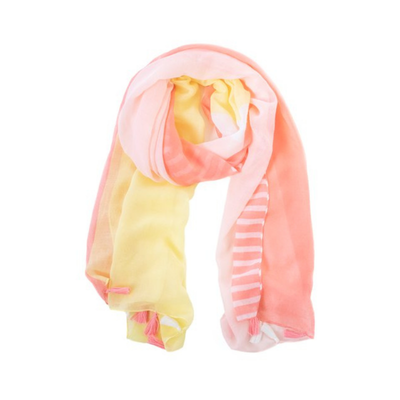 Antler NZ | Block Scarf - Coral & Lemon | Shut the Front Door