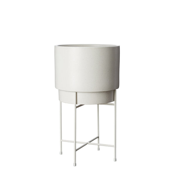 Milk & Sugar | Iris Pot Stand Short White | Shut the Front Door