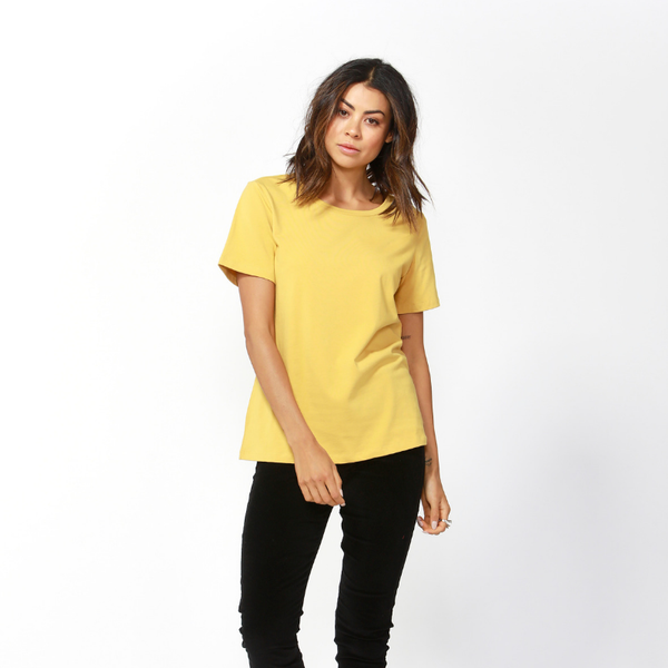 Betty Basics | Cara Tee - Mustard | Shut the Front Door