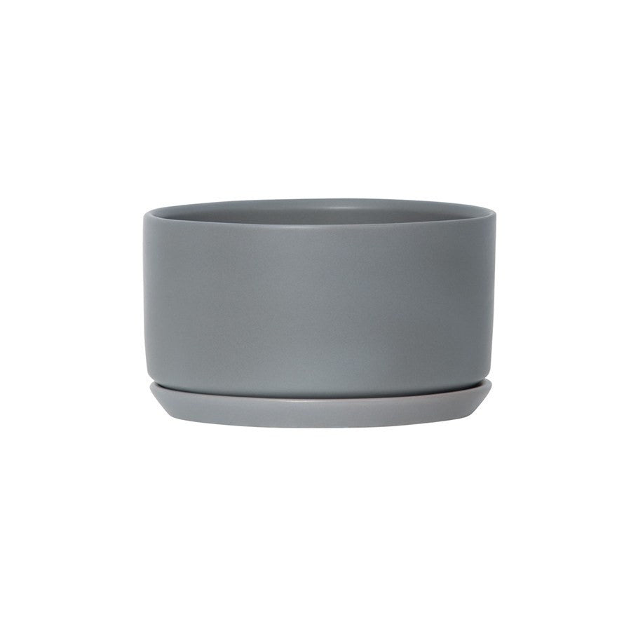 General Eclectic | Oslo Planter Grey Fog Wide & Low | Shut the Front Door