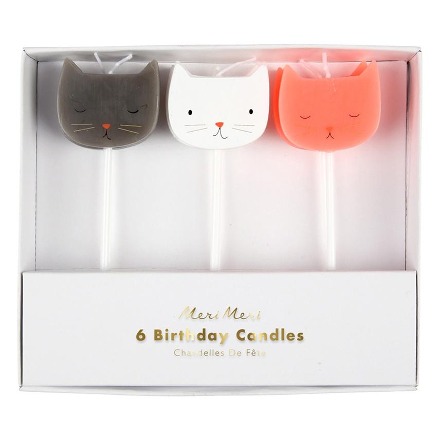 Meri Meri | Cat Candles pk6 | Shut the Front Door