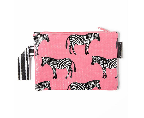 Project Ten | Mini Zip Pouch - Zebra | Shut the Front Door