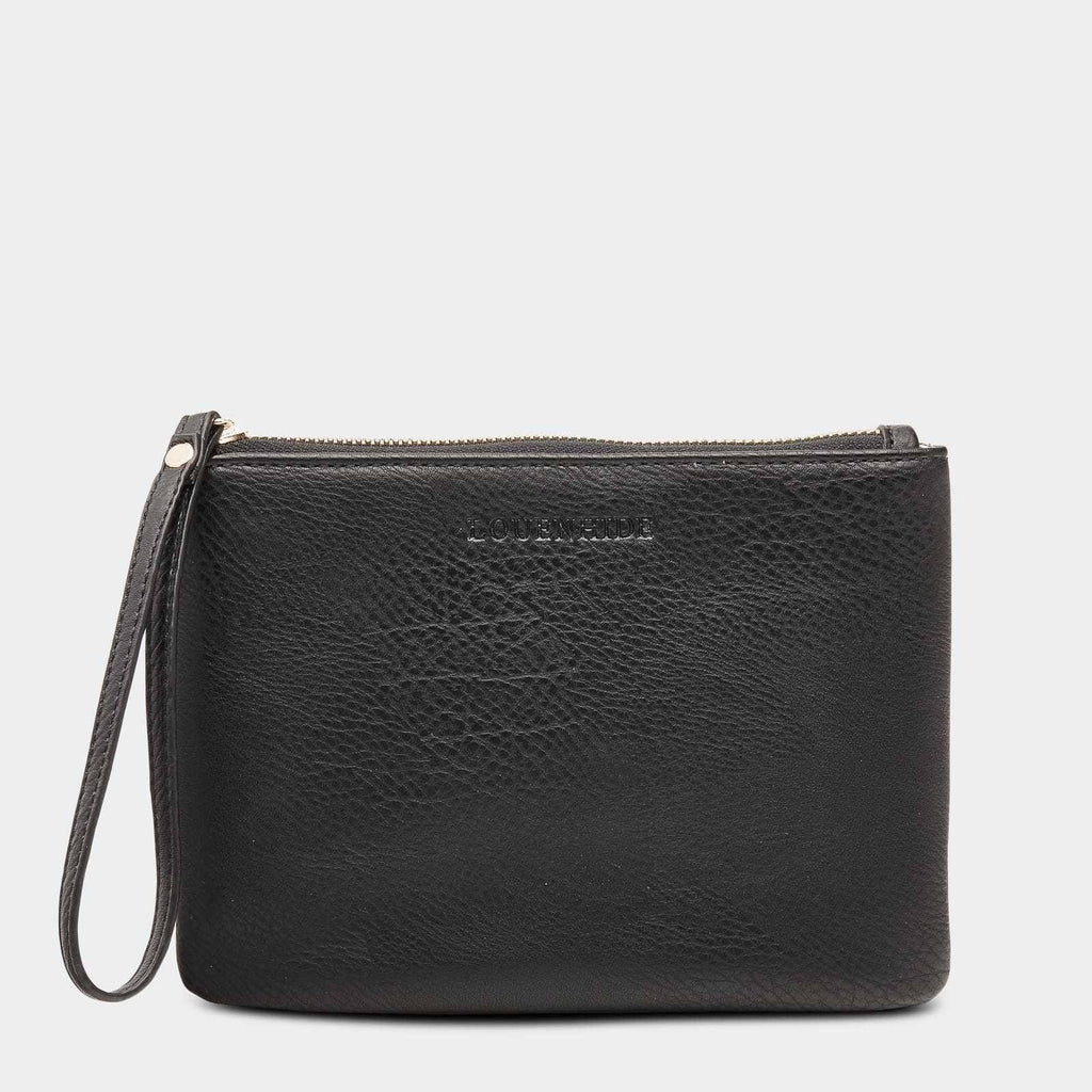 Louenhide | Wikki Medium Clutch - Black | Shut the Front Door