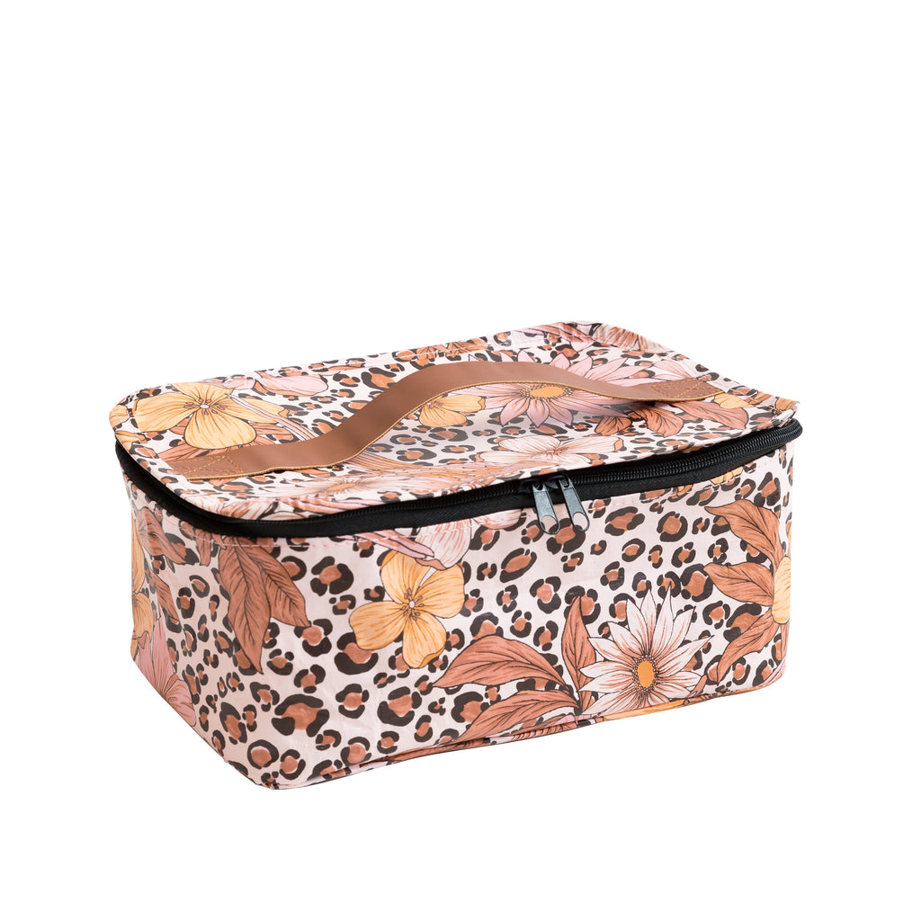 Kollab | Toiletry Stash Bag - Leopard Floral | Shut the Front Door
