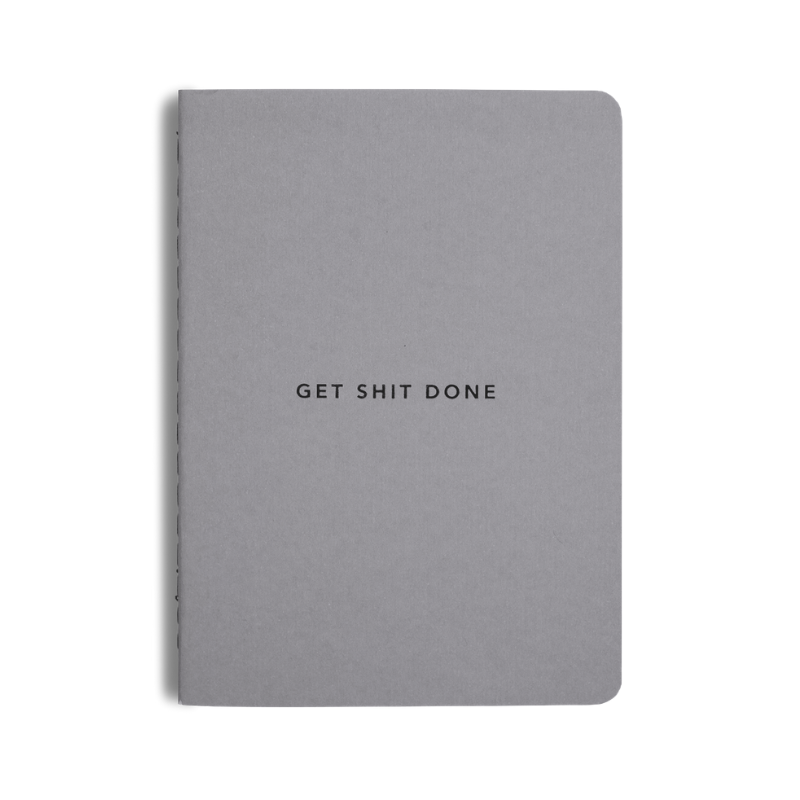 Mi Goals | Get Shit Done Notebook A6 - Grey | Shut the Front Door